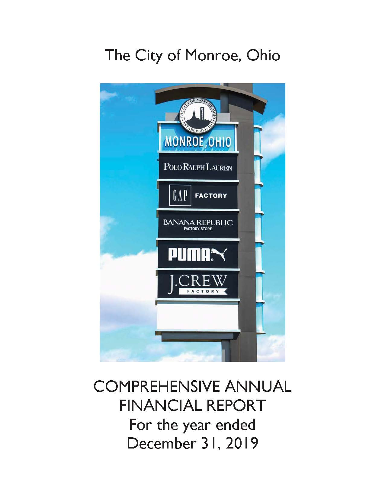 Comprehensive Annual Financial Report Page 1