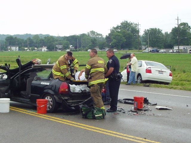 Paramedics and student respond to car accident